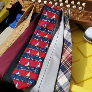Class Club Sailboat Tie 100% Silk